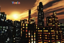 Yeele Landscape City High Building Sunset Painting Photography Backdrops Personalized Photographic Backgrounds For Photo Studio