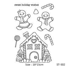 AZSG Cartoon Toy House Lollipop Clear Stamps/Seals For DIY Scrapbooking/Card Making/Album Decorative Silicone Stamp Crafts
