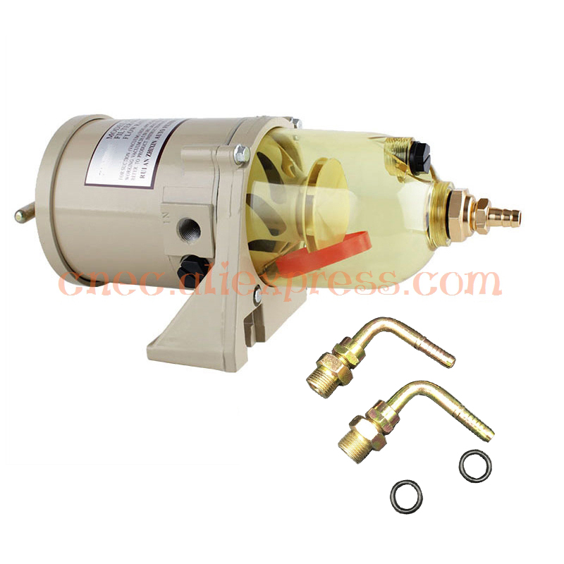 500FG bend joint OEM ASSEMBLY FUEL WATER SEPARATOR FILTER TURBINE DIESEL ENGINE FILTER MARINE SET PARTS INCLUDE 2010PM FOR Racor water pump for 495 4100 weifang diesel engine parts