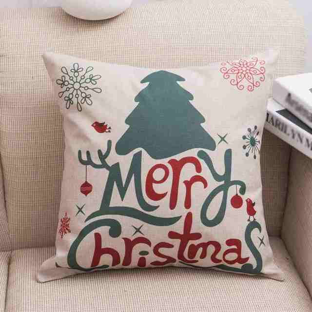 2017 Newest Merry Christmas Pillow Cover Deer Snow Man Father Christmas Pillowcase Cotton Linen Home Use & Aliexpress.com : Buy 2017 Newest Merry Christmas Pillow Cover Deer ... pillowsntoast.com