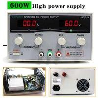 KPS6010D 60 В 10A высокой мощности питания 600 Вт 30 В/20A лаборатории источника питания, регулируемый 0.1A переключатель питания постоянного тока