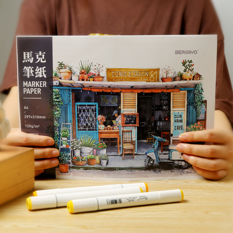 Mark Ben Thicken Marker Special Painting Paper B5 Sketch Painting Hand-painted Sketchbook Children Learn To Generate Art Supplie
