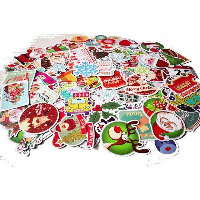 christmas theme sticker refrigerator stiker waterproof poster for