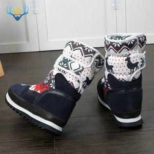 Image 2 - Meninas botas de inverno crianças botas de neve crianças novo design sapatos de natal quente pele de lã natural dentro antiderrapante sola frete grátis