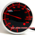 White & red Light 60mm DEFI BF Gauge Meter Medidor de Voltaje Del Coche