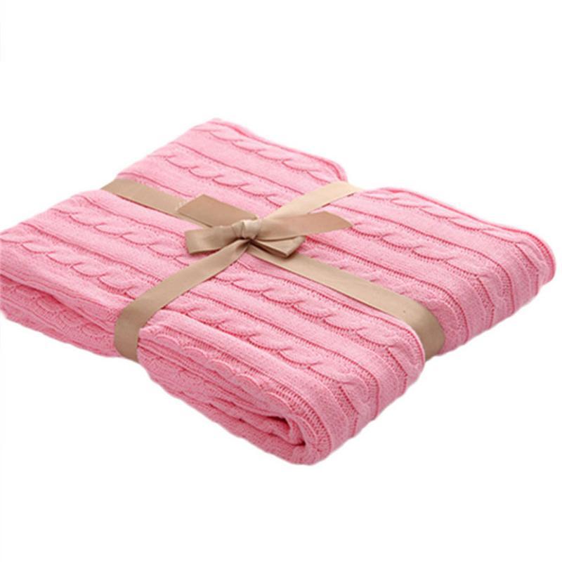 Fashion Hand Chunky Wool Knitted Blanket Thick Yarn Merino Wool Bulky  Knitting Throw Blankets DropShipping 120x180CM 40