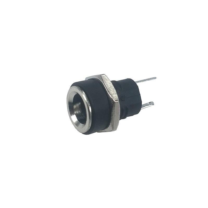 5 шт., медная розетка для зарядки, 8 мм, с круглым отверстием, постоянный ток, 2,1/2,5 мм, разъем постоянного тока 5521 5525