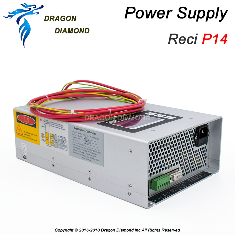 Laser Power Source P14 100W 110V 220V for Reci W4 laser tube CO2 Laser Power Supply CO2 Laser Machine AC90V-AC250V подвесной светильник ideal lux cono sp1 bianco page 1