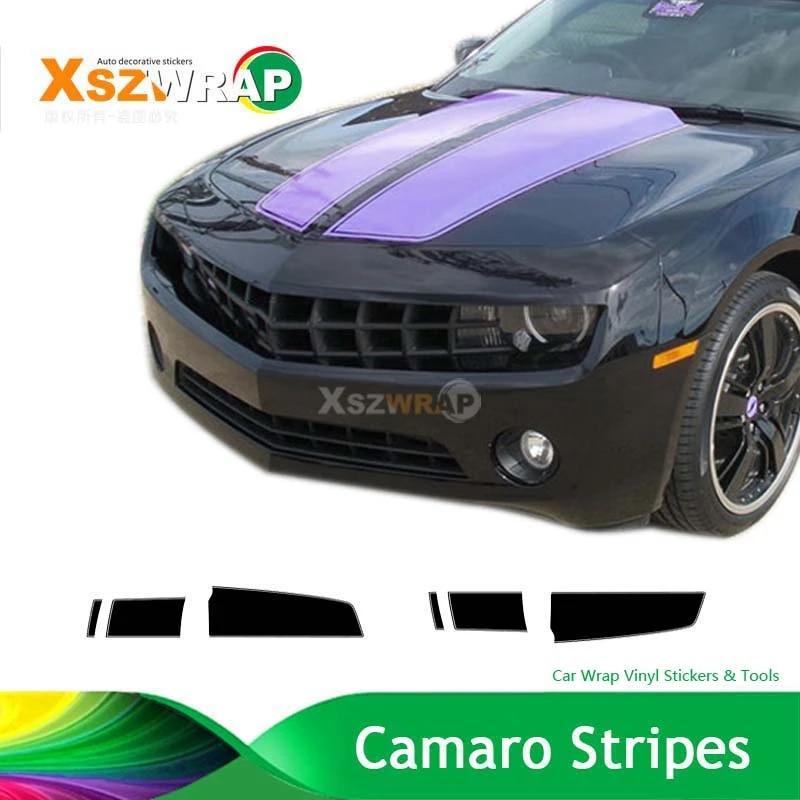 Purple Camaro Racing Stripes Chevy Decals Hood Roof Trunk Kit Pro Motor Stripes Stripe Stripe Stripestripe Decal Aliexpress