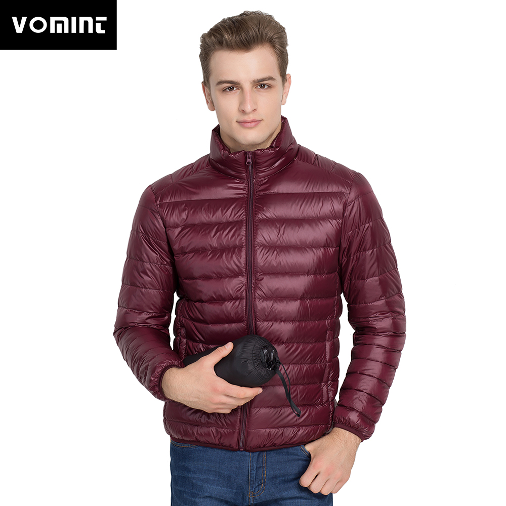 VOMINT Men's Brand Grey Duck Down Jacket Men Autumn Winter Warm Men's Ultralight Duck Down Jacket Male Windproof Parka M-4XL