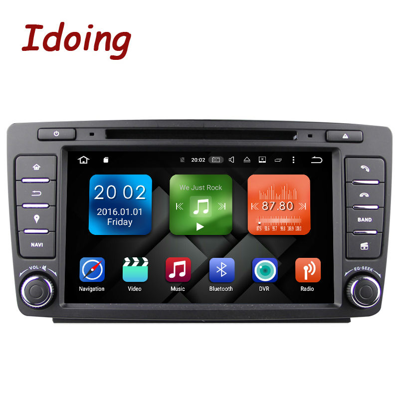 Idoing Android6 0 2G RAM 32G ROM 8Core 2Din Steering Wheel For Skoda Octavia 2 font