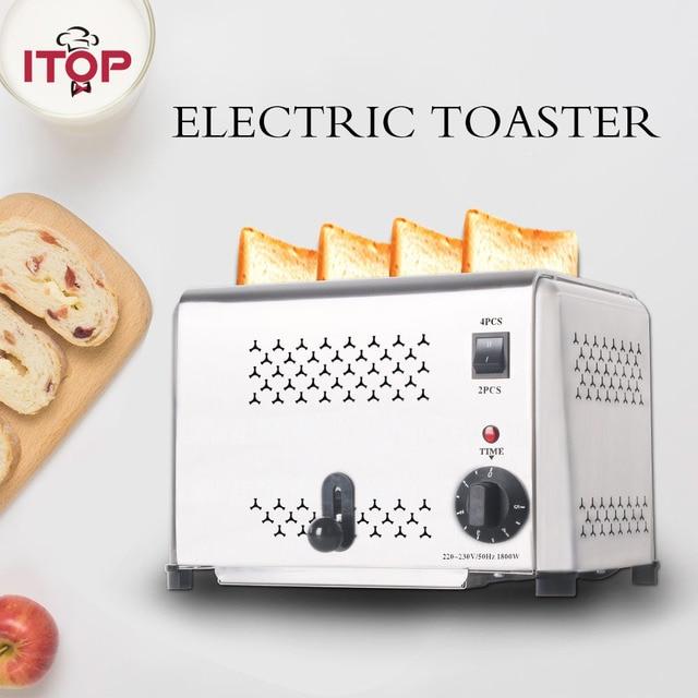 ITOP Stainless Steel 4 Slices Toaster Machine Breakfast spit driver Breakfast Machine baking bread maker sandwich heater 1