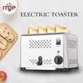 ITOP из нержавеющей стали  4 ломтика  тостер  машина для завтрака  вертел  машина для завтрака  машина для выпечки хлеба  подогреватель для сэнд...