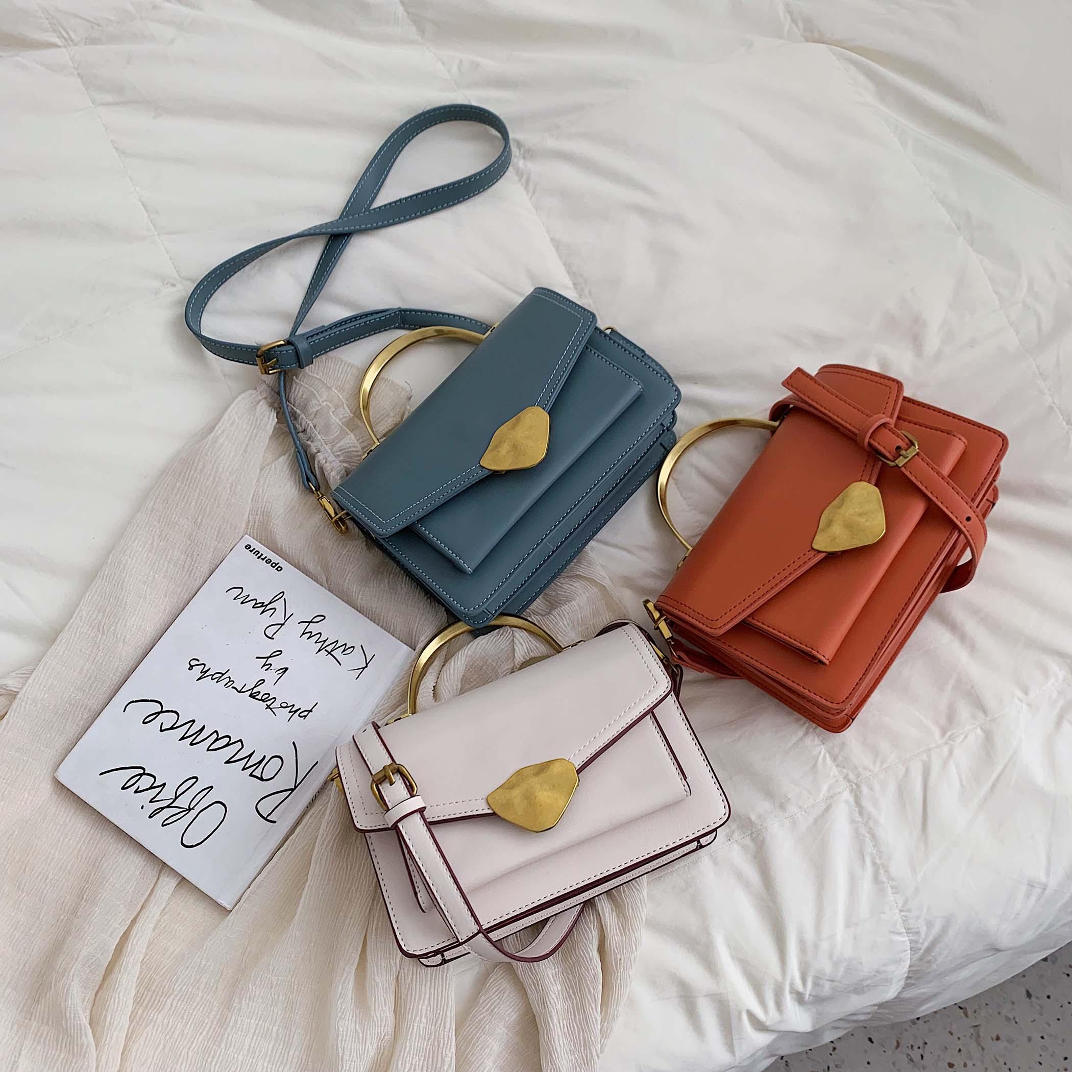 Image 5 - Simply Style PU Leather Crossbody Bags For Women Shoulder Messenger Bag Handbag Mini Tote Hand Bag With Metal Handle-in Shoulder Bags from Luggage & Bags