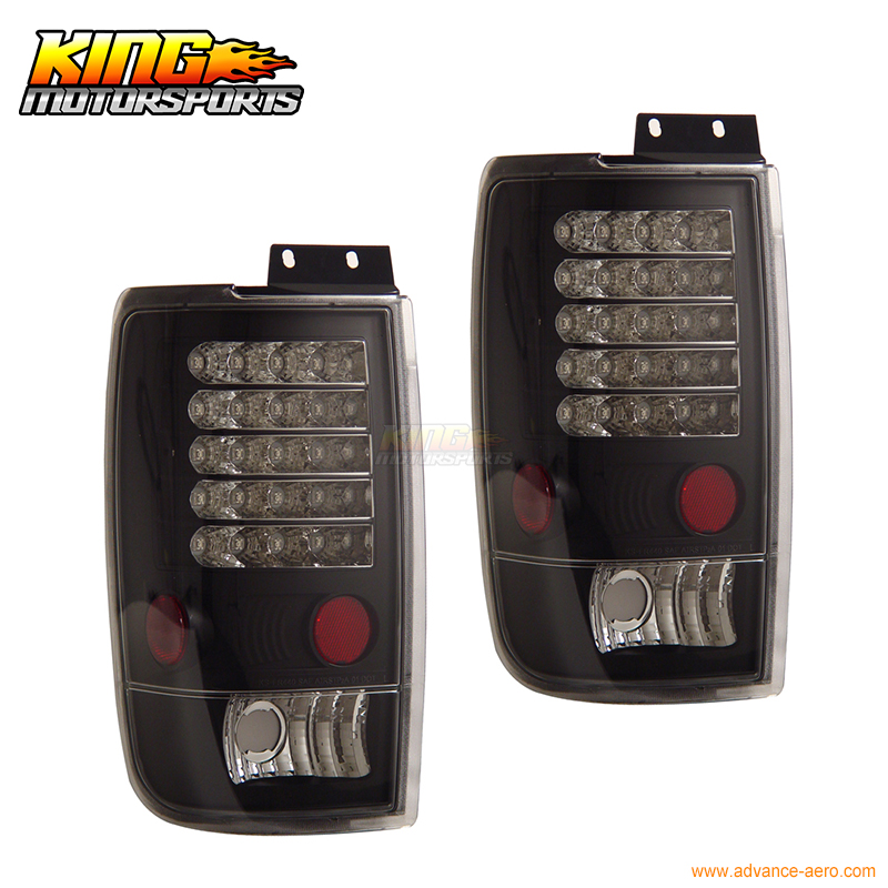 for 2005 2007 06 chrysler 300 300c led tail lights black lamps usa domestic free shipping For 1997-2002 Ford Expedition LED Tail Lights Black 98 99 00 01 USA Domestic Free Shipping