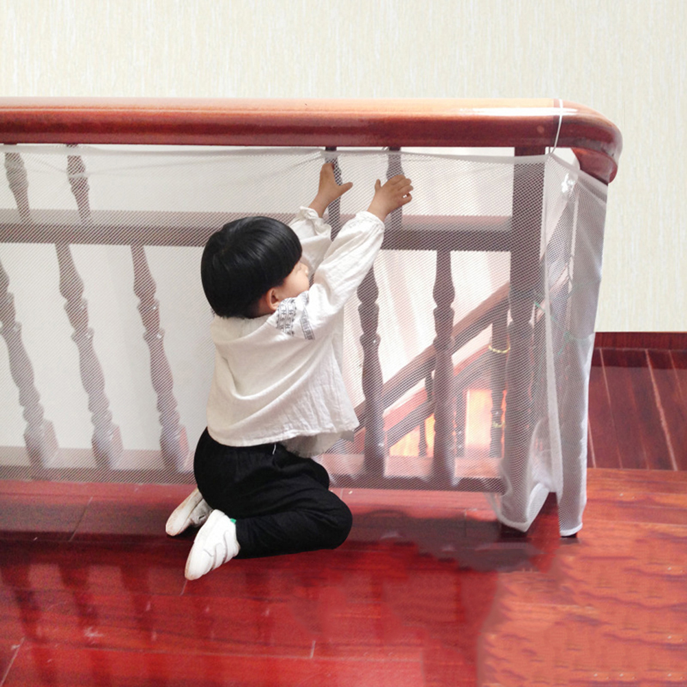 Children Kids Protection Stair Fence Baby Stair Safety Net Balcony Baby Safety Fence Stair Net Thick Hard Mesh TSFH