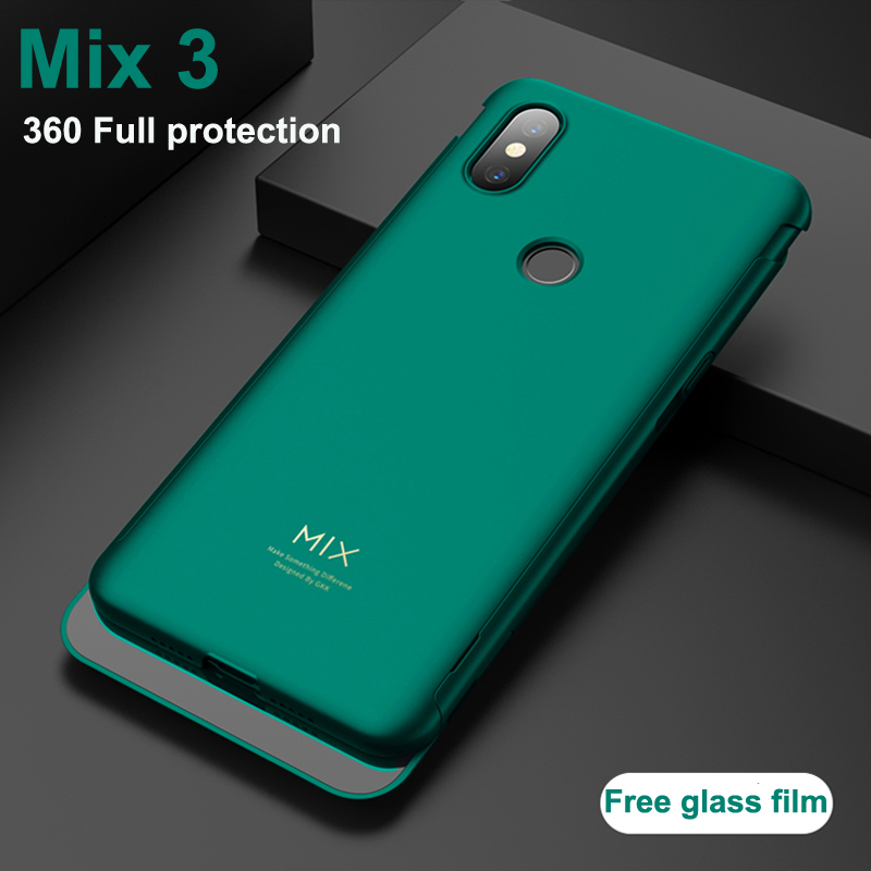 Slim thin Electroplated hard shell for Xiaomi Mi Mix 3 Case Hard green back Cover for Xiaomi mi mix 3 MIX3 cases phone coque