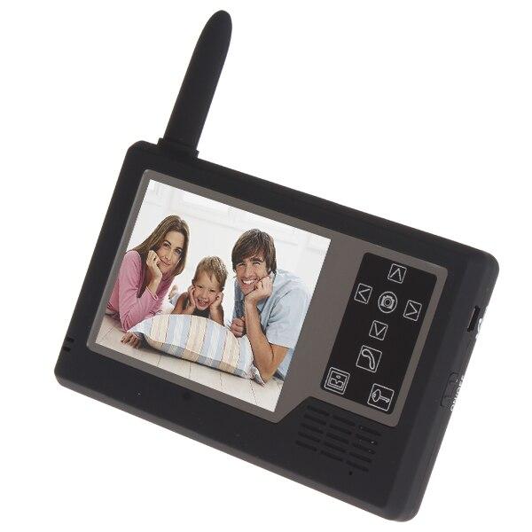 2pcs/lot Wireless Home Video Door Phone Intercom Doorphone Doorbell System, 3.5 Inch TFT Color Monitor + 1 Camera Kit
