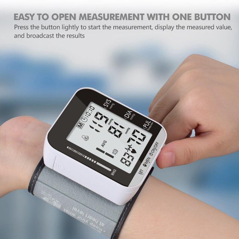 Nowa domowa opieka zdrowotna automatyczny ciśnieniomierz cyfrowy Lcd górny ciśnieniomierz na ramię maszyna mierząca rytm serca tonometr do pomiaru