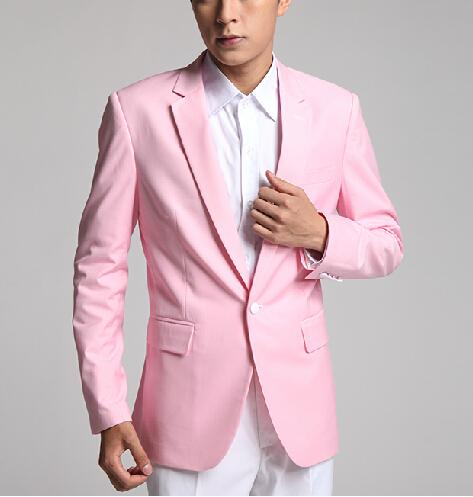 2017 Latest Coat Pant Designs Pink Suit Men Formal Skinny Marriage ...