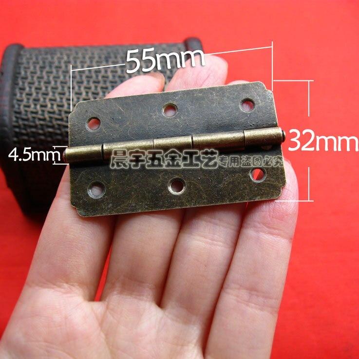 ღ ღAl por mayor Muebles hardware 55*32mm 180 grados plana joyero ...