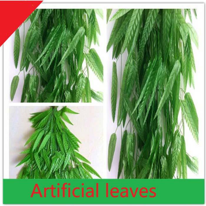 1,9 1,8 м искусственные Ив зеленый Листья лозы поддельные растения для дня рождения Свадебная вечеринка домашний бар украшения craft DIY Wh