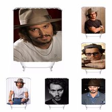 Custom Johnny Depp Bath Curtain Bathroom Mildewproof Waterproof Polyester Shower Curtain#180417-04-21(China)