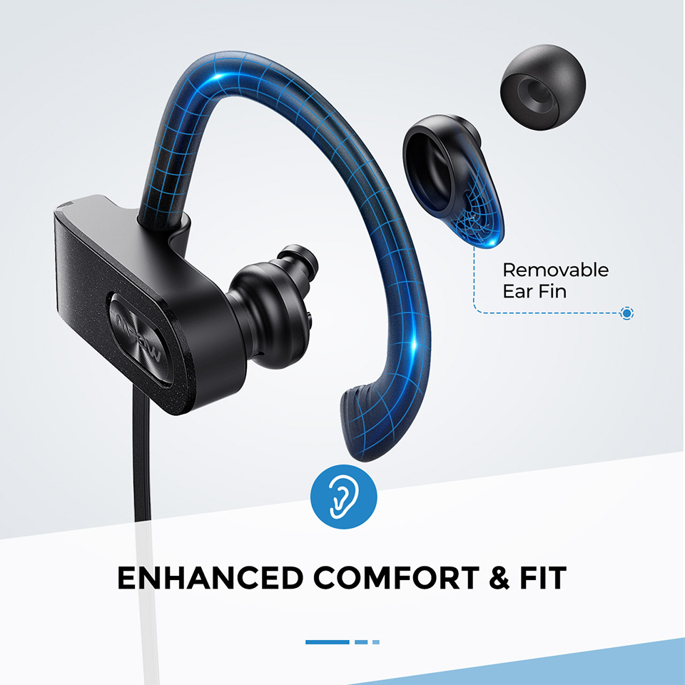 Mpow Flame 2 Bluetooth 5.0 Earphone IPX7 Waterproof Wireless Headphone With 13 Hours Playtime Noise Canceling Mic Sport Earphone (5)