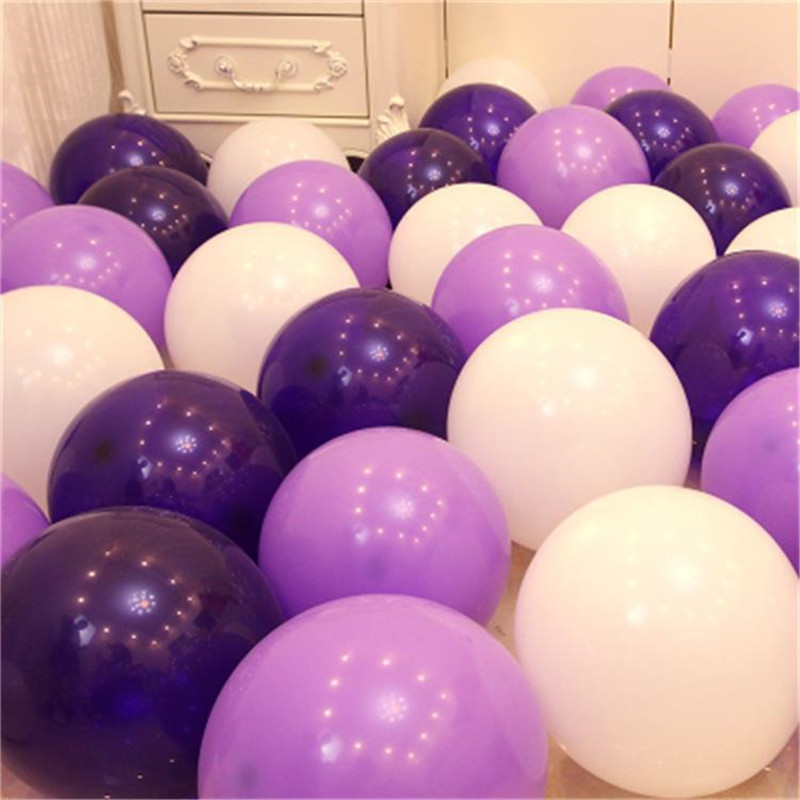 10pcs 12inch 5inch Macaron Balloon Wedding Happy Birthday Party Decorations Kid Ballon Graduation Supplies Purple Latex Balloons
