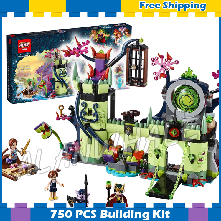 702pcs Fairy Breakout from the Goblin King's Fortress 10699 Model Building Blocks Children Gifts sets Compatible With Lago Elves image