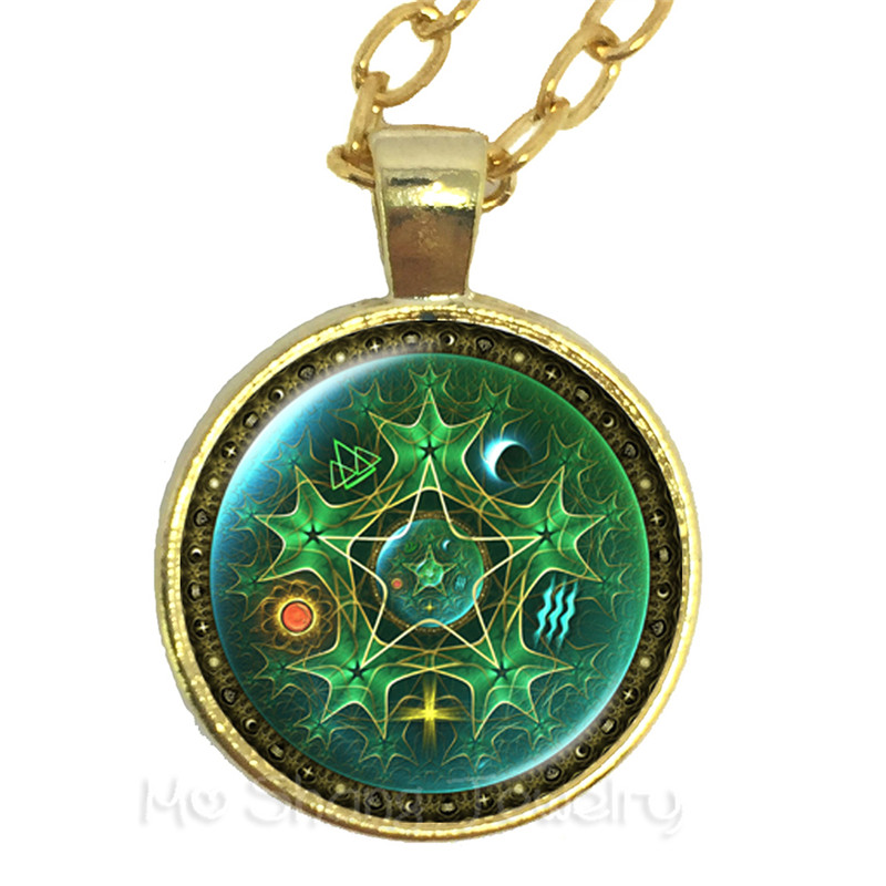 Triple Moon Goddess Wicca Pentagram Magic Amulet Talisman Women Moon Necklace Tibetan Vintage Jewelry Gift For Family Talisman ...