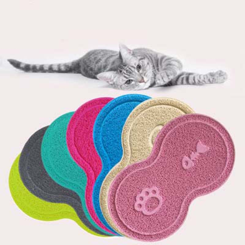 Pet Products Active Colorful Pet Dog Puppy Cat Feeding Mat Pad Cute Pvc Bed Dish Bowl Food Water Feed Placemat Wipe Clean 1piece A Plastic Case Is Compartmentalized For Safe Storage Home & Garden