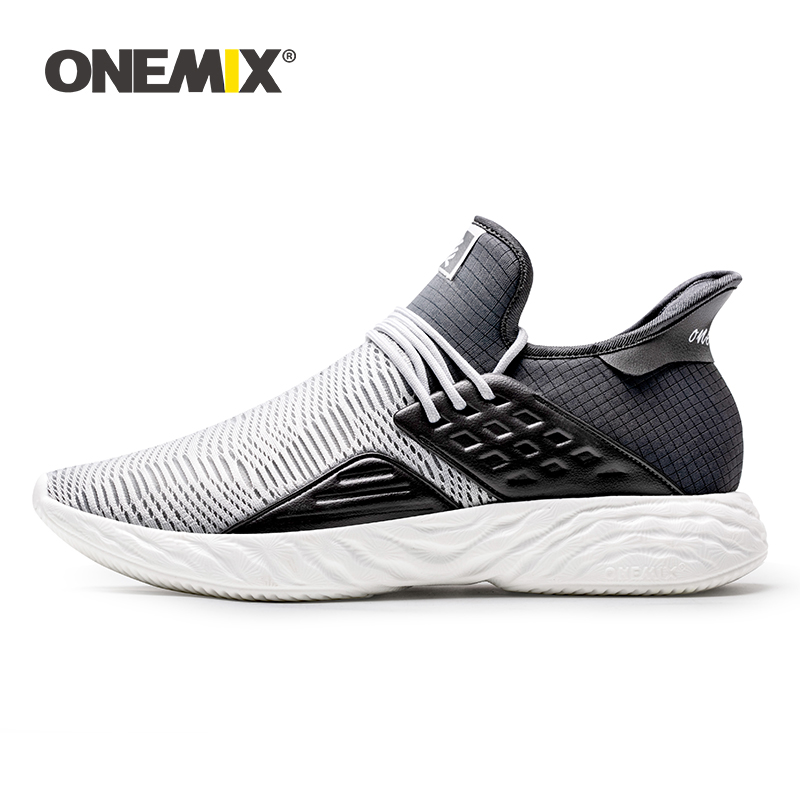 ONEMIX 2019 New Men Sneakers Plus Size Comfortable Breathable Jogging Footwear Couples Casual Lightweight Athletic Running