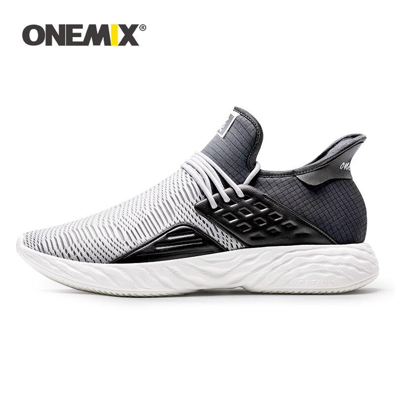 ONEMIX 2019 nowych mężczyzna Sneakers Plus rozmiar wygodne oddychające obuwie do biegania pary Casual lekkie sportowe buty do biegania w Buty do biegania od Sport i rozrywka na AliExpress - 11.11_Double 11Singles' Day 1