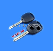 Good Quality For Toyota Remote  Key Shell 2 Button Without Logo Toy43 Blade