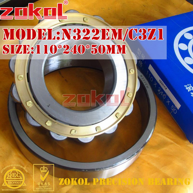 ZOKOL N322 E M C3Z1 bearing N322EM C3Z1 3G2322EH/Z1 Cylindrical roller bearing 110*240*50mm