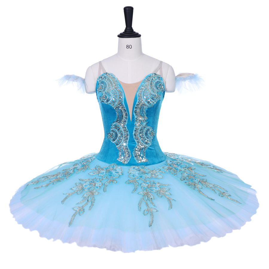 Fairy Girls Costume Professional Ballet Tutus Hot pink Ballet Stage Costume Aqua Blue Women Performance Ballet Pancake Tutu in Ballet from Novelty Special Use