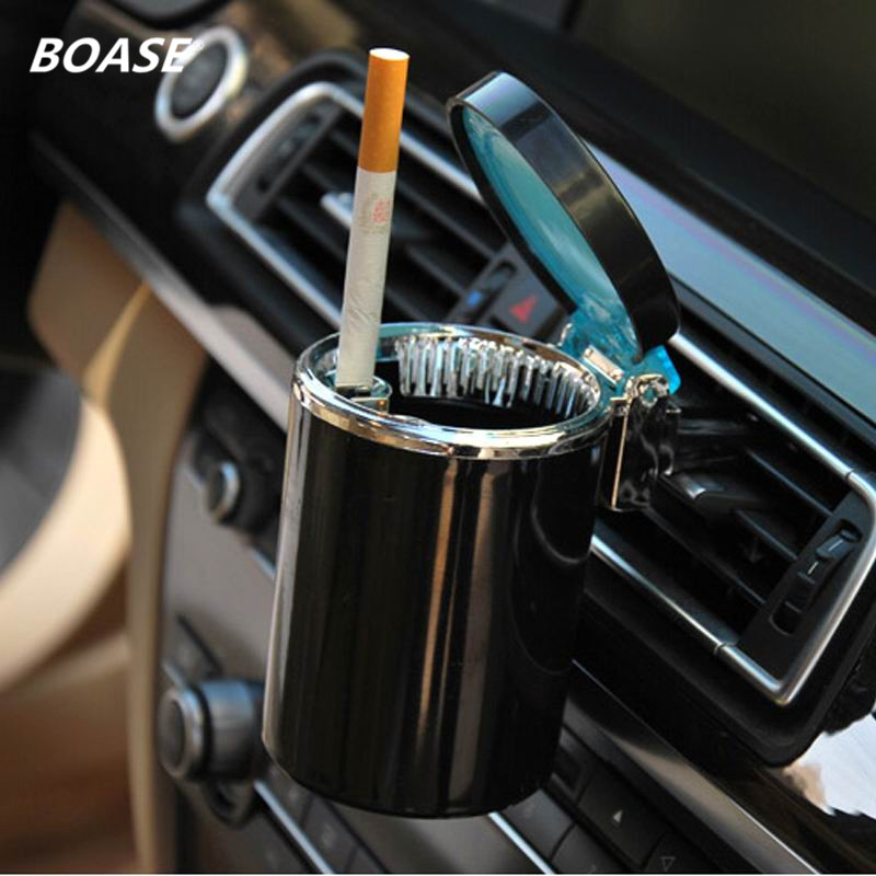 Brand New LED Ashtray Portable Car Auto Home Office Smokeless Auto Accessories Ashtray Cylinder Cigarette Holder