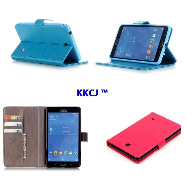 YB PU Leather Flip Folio Stand Case Cover For Samsung Galaxy Tab 4 7.0 SM-T230NU T231 SM-T235 T237 T230 Tablet PC With TPU Back
