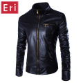 2016 New Spring Autumn Brand Leather Jacket Men Slim Fit Windbreaker Jaqueta Couro Bomber Jacket Faux Leather Moto Suede X359