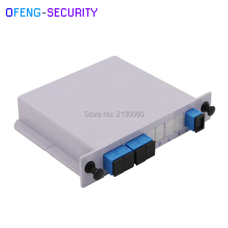 TOP Quality ABS SC UPC 1x4 PLC Fiber Optical Splitter Box Single Mode With FTTH  Planar Waveguide  Optical Couple