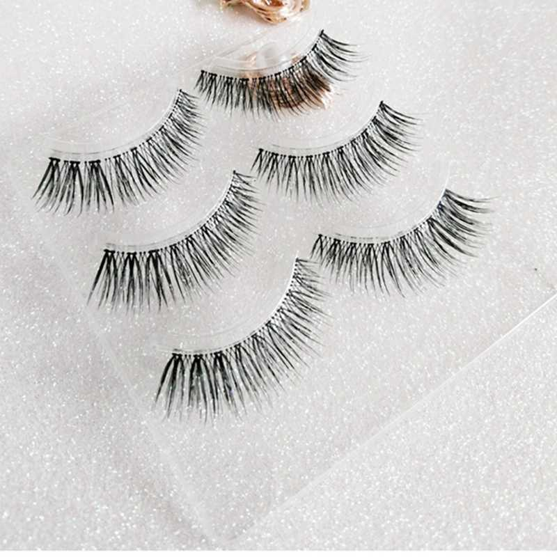 557a38ffe50 ... 3 pairs Japanese sharpening series Hot sale 3D silk synthetic faux mink  lashes false premium silk ...