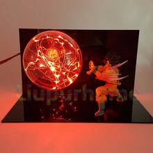 Dragon Ball Z Son Goku Kaiouken DIY Led Night Lights Lamp Anime Dragon Ball DBZ Goku Led Lighting Table Lamp Decoration стоимость