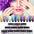 ¡ CALIENTE! moda Shinning Espejo Efecto Cromado Gorgeous Nail Art Polvo Del Polvo Del Brillo