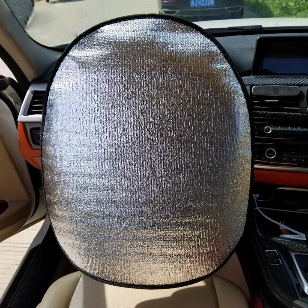Summer Car Steering Wheel Sunshade Side Window Shades Pearl Cotton Steering Wheel Cover Sunscreen Insulation Side Sun Shade