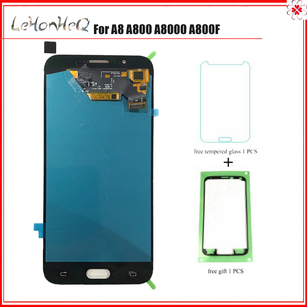 TEST Super Amoled LCD For Samsung Galaxy A8 A800 A8000 A800F LCD Display Touch Screen Digitizer Assembly For samsung A8 A800 LCDTEST Super Amoled LCD For Samsung Galaxy A8 A800 A8000 A800F LCD Display Touch Screen Digitizer Assembly For samsung A8 A800 LCD