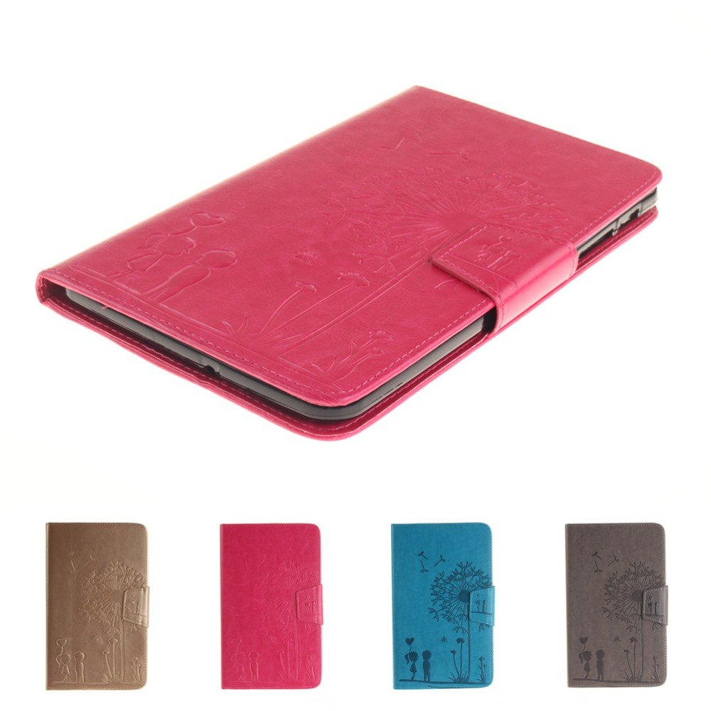 New embossing PU Leather Flip Stand Case For Samsung Galaxy Tab E 8.0 T377 T377V SM-T377 ...