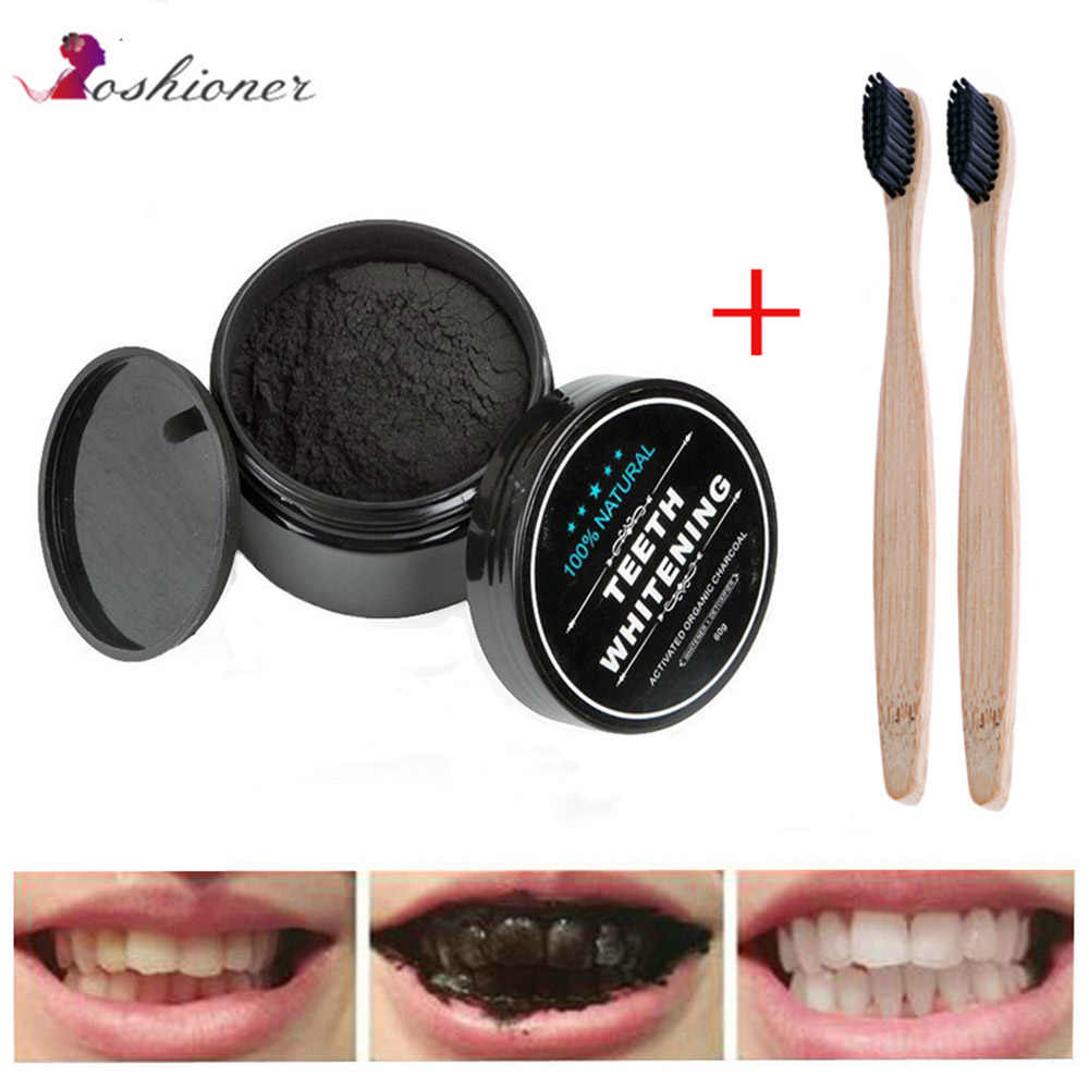 1 PCS 30g Teeth Whitening Oral Care Charcoal Powder Natural Activated Charcoal Teeth Whitener Powder Oral Hygiene