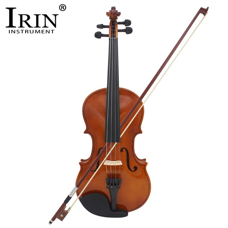 IRIN 4/4 3/4 1/4 1/8 1/2 Violin Natural Acoustic Solid Wood Spruce Flame Maple Veneer Violin Fiddle with Case Rosin sets