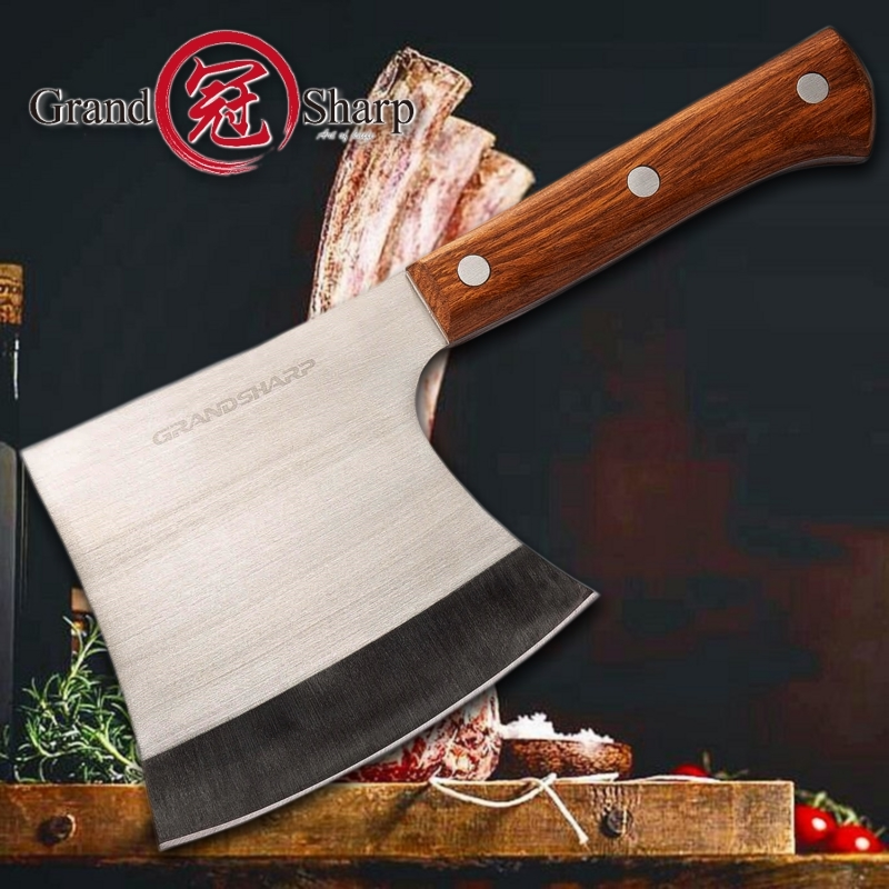 Cleaver Knife Stainless Steel Axe Kitchen hatchet Chef Boning Knife Meat Cutter Butcher Tools Camping Outdoor Chopping Knife image